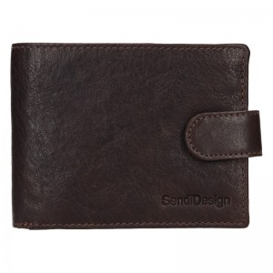 Pánská kožená peněženka SendiDesign Robert - hnědá