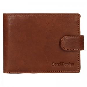 Pánská kožená peněženka SendiDesign Robert - koňak