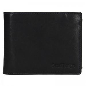Pánská kožená peněženka SendiDesign Jaromír - černá