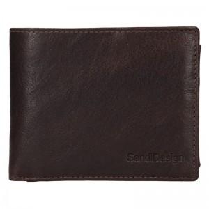 Pánská kožená peněženka SendiDesign Jaromír - hnědá
