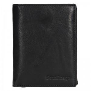 Pánská kožená peněženka SendiDesign Josef - černá