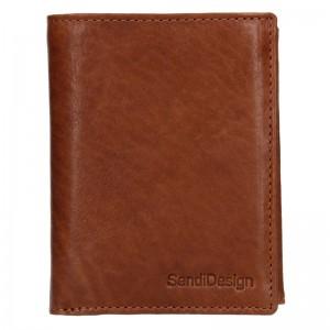 Pánská kožená peněženka SendiDesign Josef - koňak