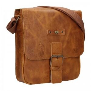 Pánská kožená taška Daag Benn - světle hnědá