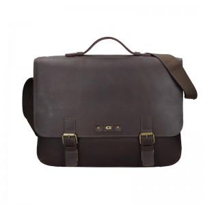 Pánská kožená taška Daag Woody - tmavě hnědá