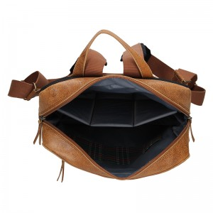 Pánský kožený batoh Daag Lincoln - hnědá