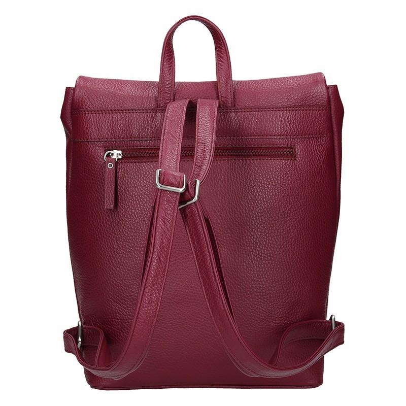 Dámský kožený batoh Daag Marcella - vínová