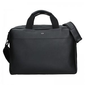 Luxusní pánská kožená taška Daag Bendr - černá