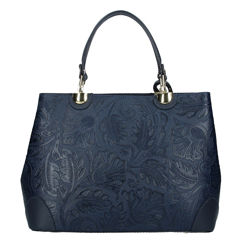 Dámská kožená kabelka Vera Pelle Apolen - modrá