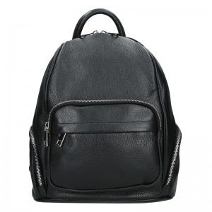 Dámský kožený batoh Vera Pelle Elza - černá