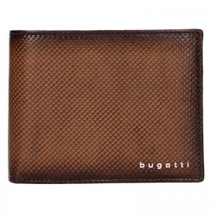Pánská kožená peněženka Bugatti Quido - hnědá