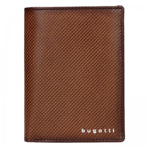 Pánská kožená peněženka Bugatti Jimmy - hnědá
