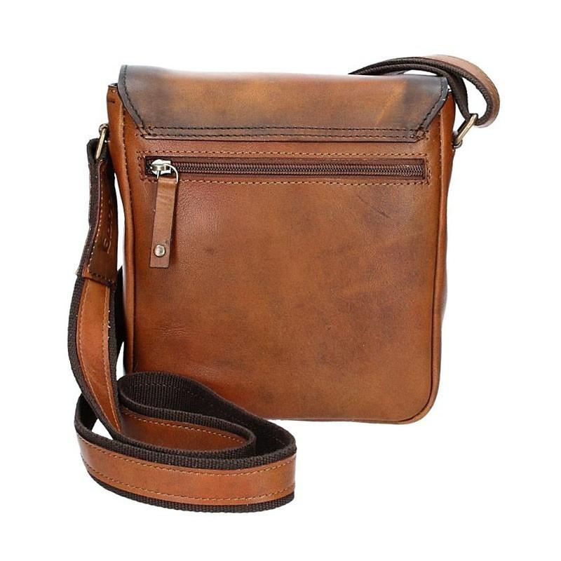 Luxusní pánská kožená taška Daag ALIVE 27 - hnědá