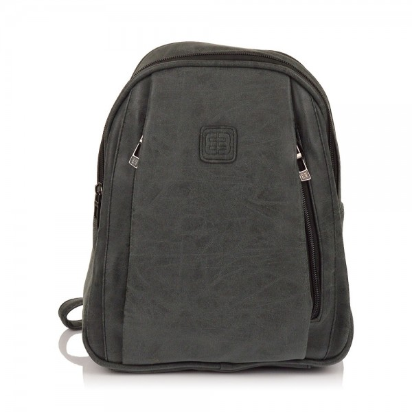 Moderní ekokožený dámský batoh Enrico Benetti 66169 - černá