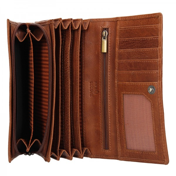 Dámská kožená peněženka SendiDesign Aneta - koňak