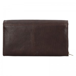 Dámská kožená peněženka SendiDesign Monic - tmavě hnědá