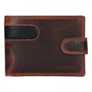Pánská kožená peněženka SendiDesign Martin - hnědo-černá