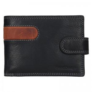 Pánská kožená peněženka SendiDesign Martin - černo-hnědá