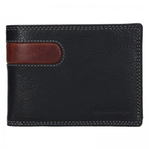 Pánská kožená peněženka SendiDesign Amarel - černo-hnědá