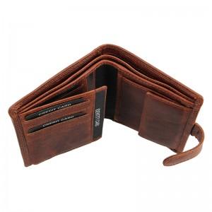 Pánská kožená peněženka SendiDesign Sebastian - hnědo-černá