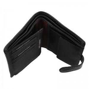 Pánská kožená peněženka SendiDesign Sebastian - černo-hnědá