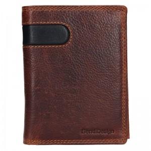 Pánská kožená peněženka SendiDesign Ulrich - hnědo-černá