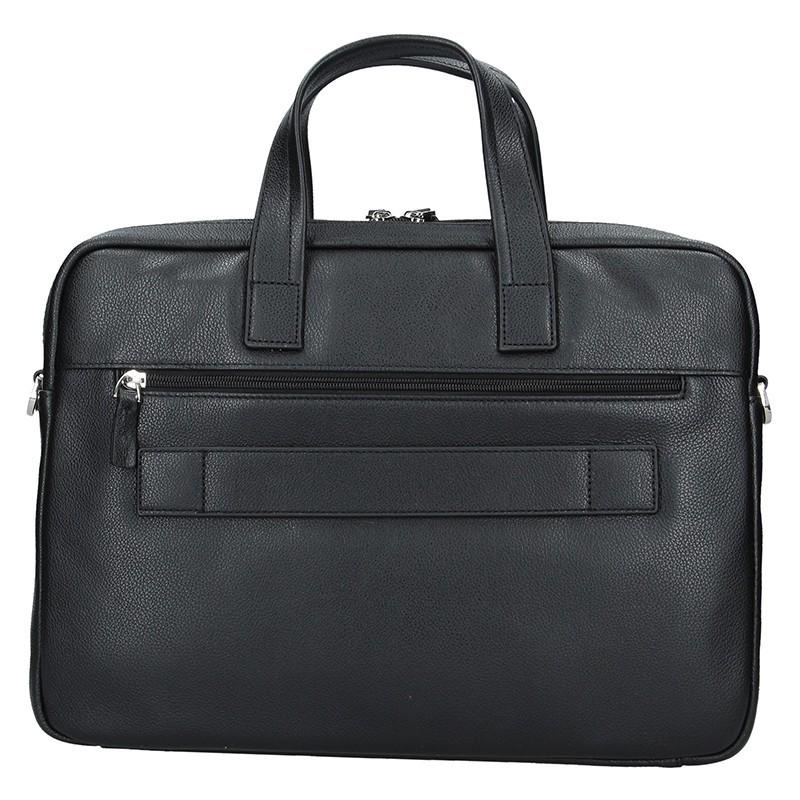 Pánská kožená taška přes rameno Hexagona Amarel - černá