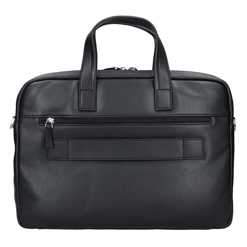 Pánská kožená taška přes rameno Hexagona Amarel - černo-hnědá