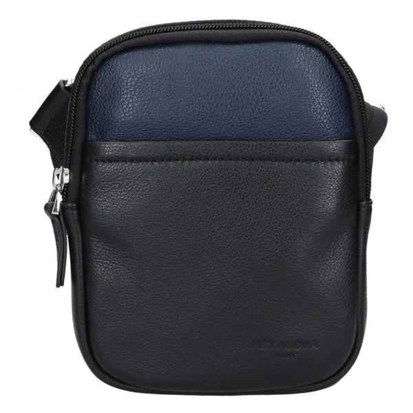 Pánská taška na doklady Hexagona Vilém - černo-modrá