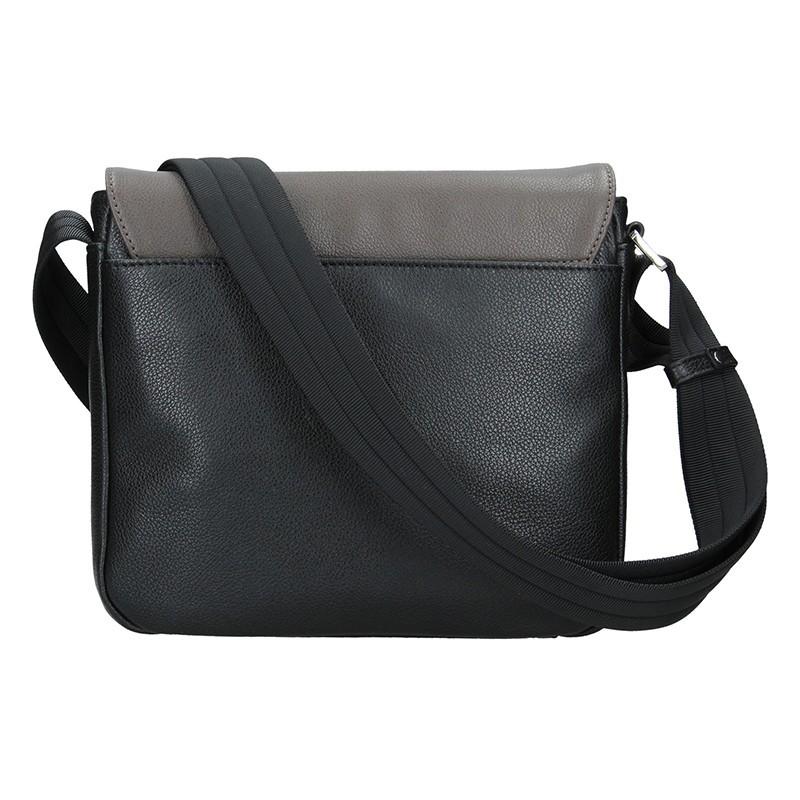 Pánská kožená taška přes rameno Hexagona Leopold - černo-hnědá