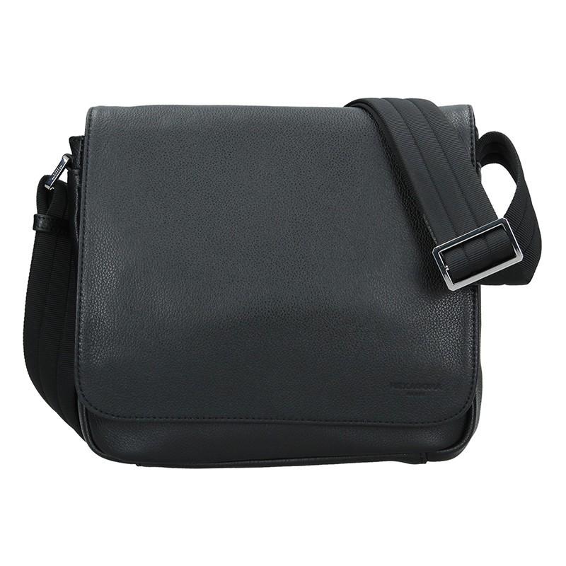 Pánská kožená taška přes rameno Hexagona Leopold - černá