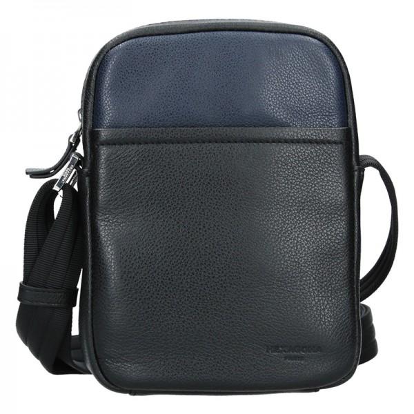 Pánská taška na doklady Hexagona Augusto - černo-modrá
