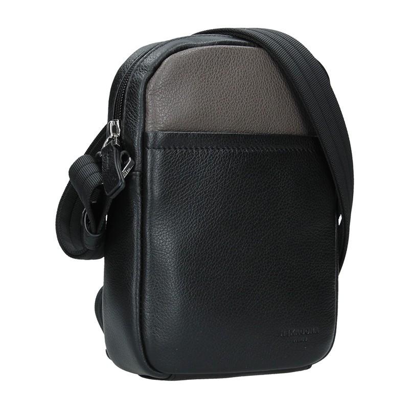 Pánská taška na doklady Hexagona Augusto - černo-hnědá