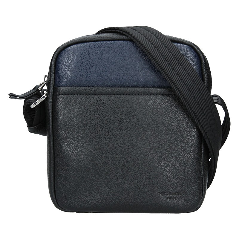Pánská taška na doklady Hexagona Kolen - černo-modrá