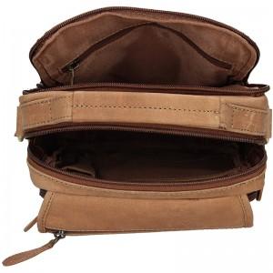 Pánská kožená taška Delami Albert - hnědá