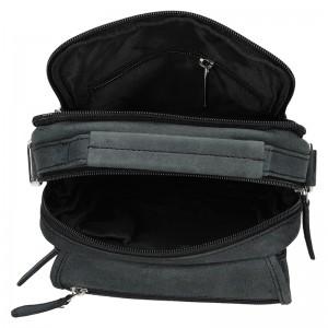 Pánská kožená taška Delami Simon - černá