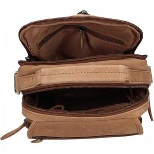 Pánská kožená taška Delami Simon - hnědá
