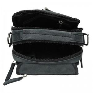 Pánská kožená taška Delami Xaver - černá
