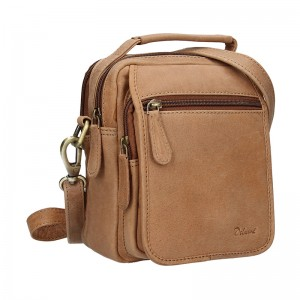 Pánská kožená taška Delami Xaver - hnědá