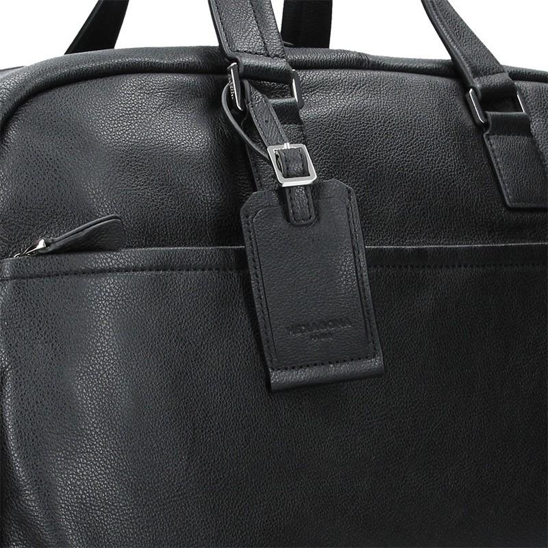 Pánská celokožená cestovní taška Hexagona Tobias - černá