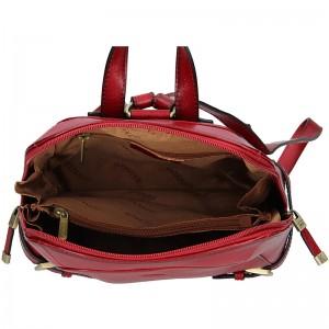 Dámský kožený batoh Katana Elisn - hnědá