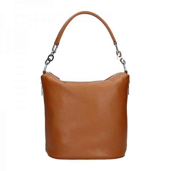 Dámská kožená kabelka Facebag Dana - hnědá