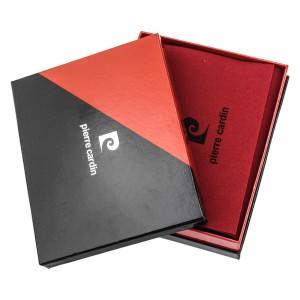Pánská kožená peněženka Pierre Cardin Jomar - černo-červená