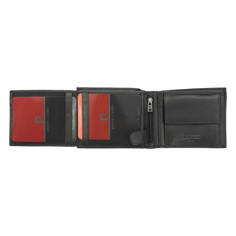 Pánská kožená peněženka Pierre Cardin Rigor - černo-červená