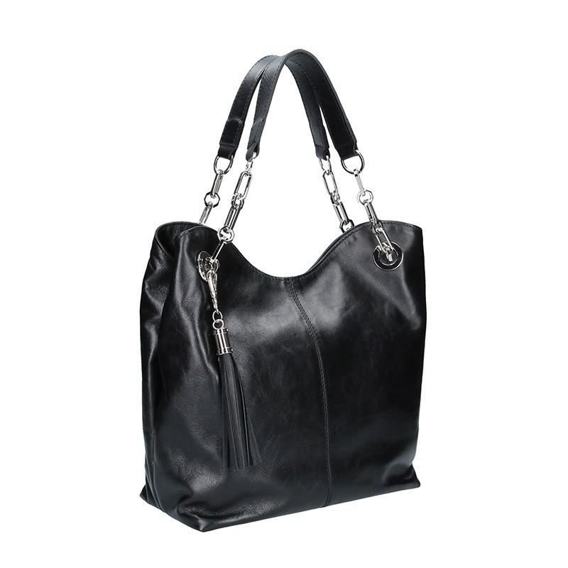 Dámská kožená kabelka Facebag Sofia - černá