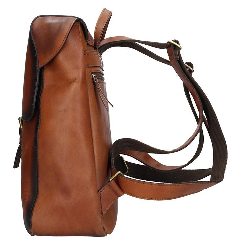 Dámský kožený batoh Daag Marela - hnědá