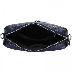 Trendy dámská kožená crossbody kabelka Facebag Ninas - modrá