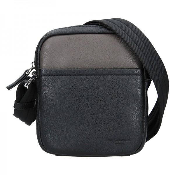 Pánská taška na doklady Hexagona Anders - černo-hnědá