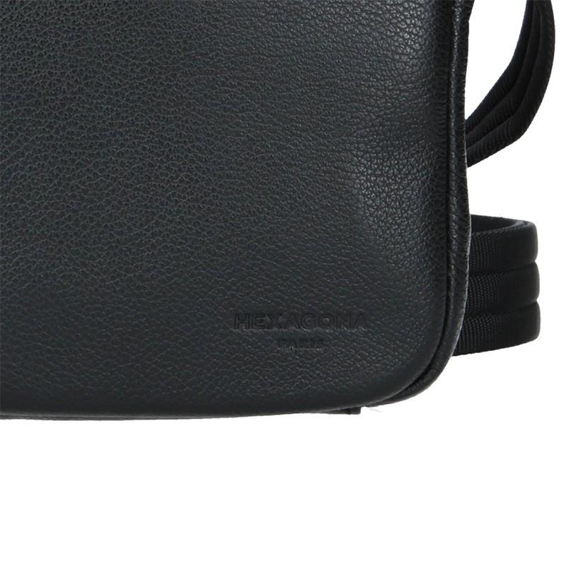 Pánská taška na doklady Hexagona Ruben - černo-hnědá