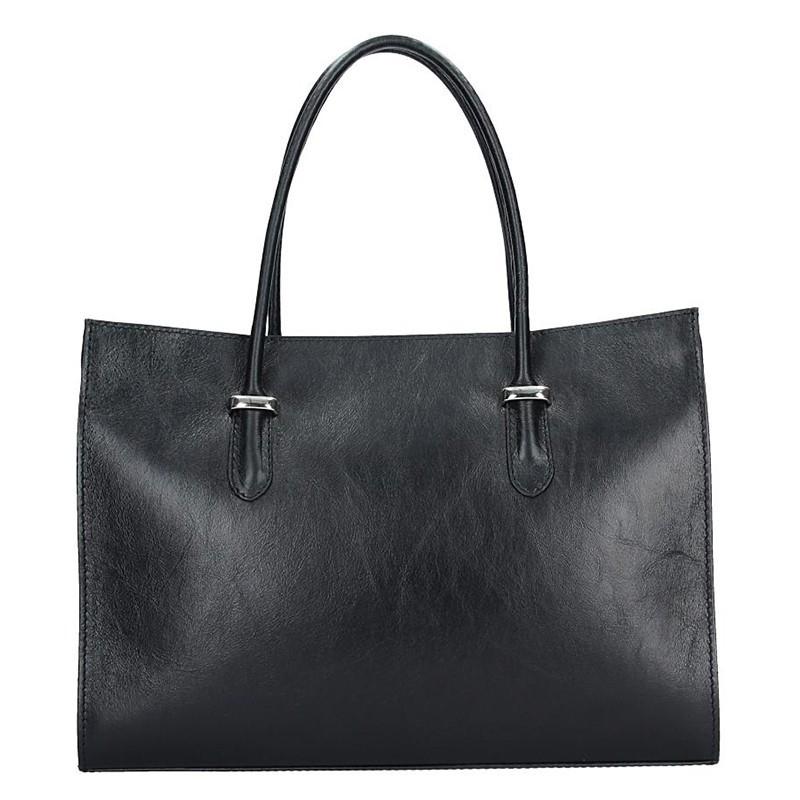 Dámská kožená kabelka Facebag Noel - černá