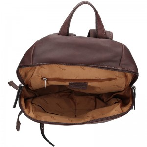 Dámský kožený batoh Katana Magne - hnědá
